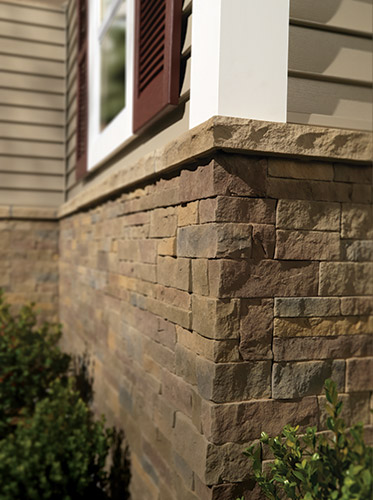 Ply Gem Stone®Durata® Mortarless Stone in Shenandoah