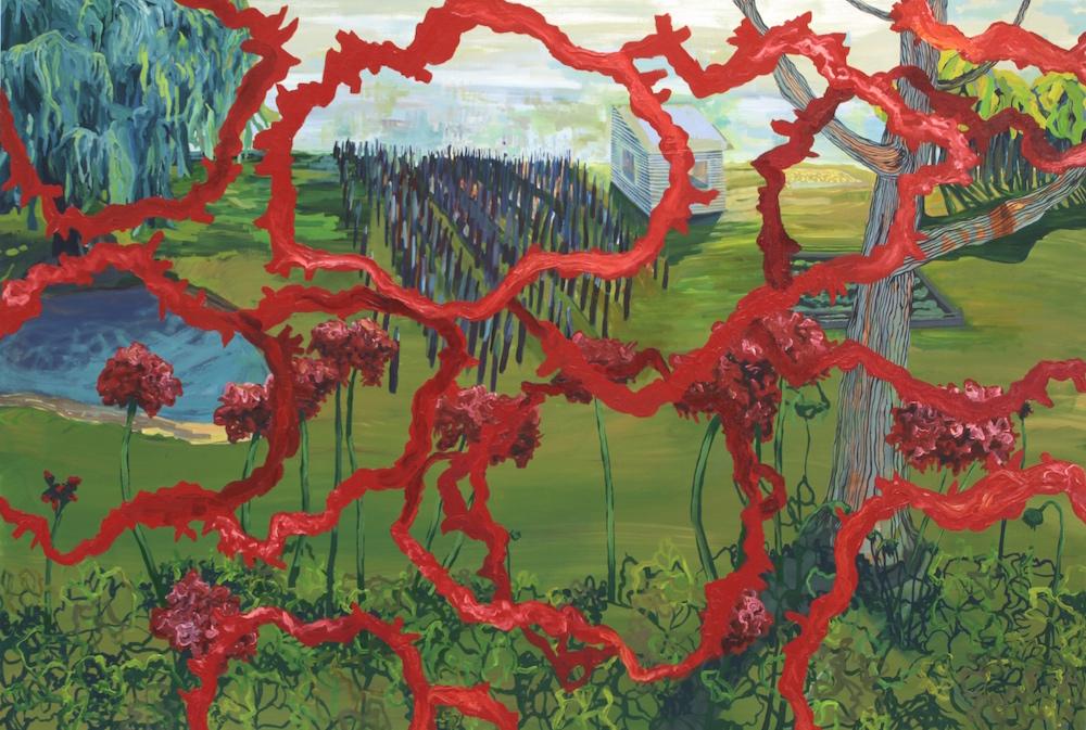 Lifeline Painting I: Highland Park , 2015, Oil on canvas, 6 x 7.5 feet
