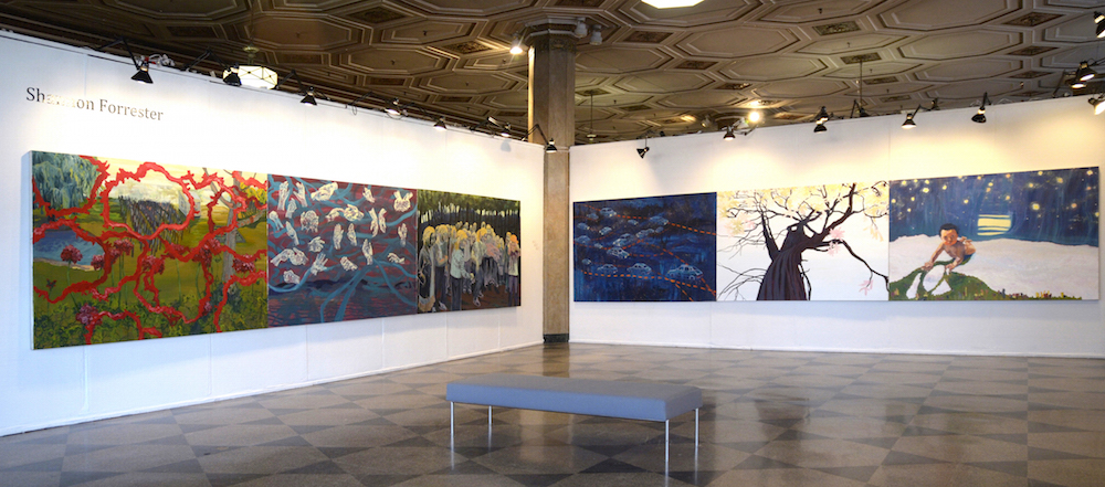 Installation View , 2015, Oil on canvas, 5 x 45 feet