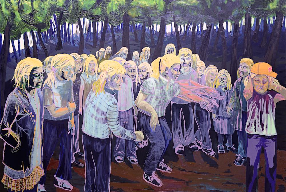 Lifeline Painting III: Bully , 2015, Oil on canvas, 5 x 7.5 feet