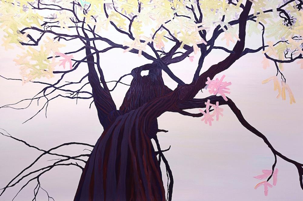Lifeline Painting IV: Tree , 2015, Oil on canvas, 5 x 7.5 feet