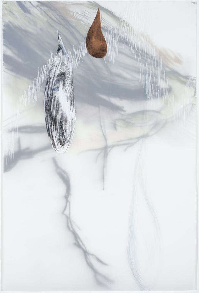The Last Drop , 2007, Graphite, pastel on paper and mylar, 36 x 24 inches