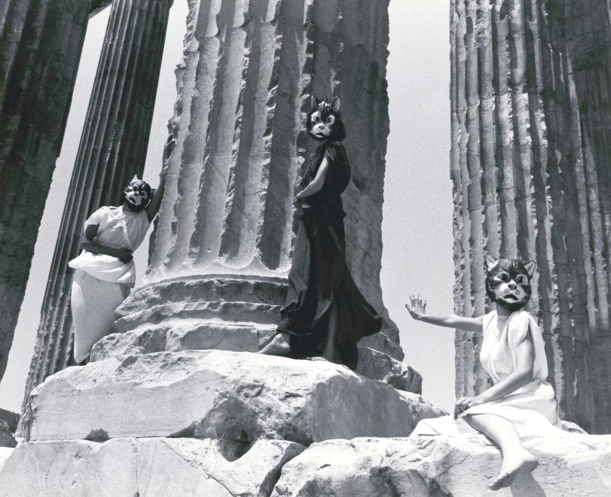 Great Goddesses: Do You Have a Light?,  1978, Performance Tableau, Athens, Greece