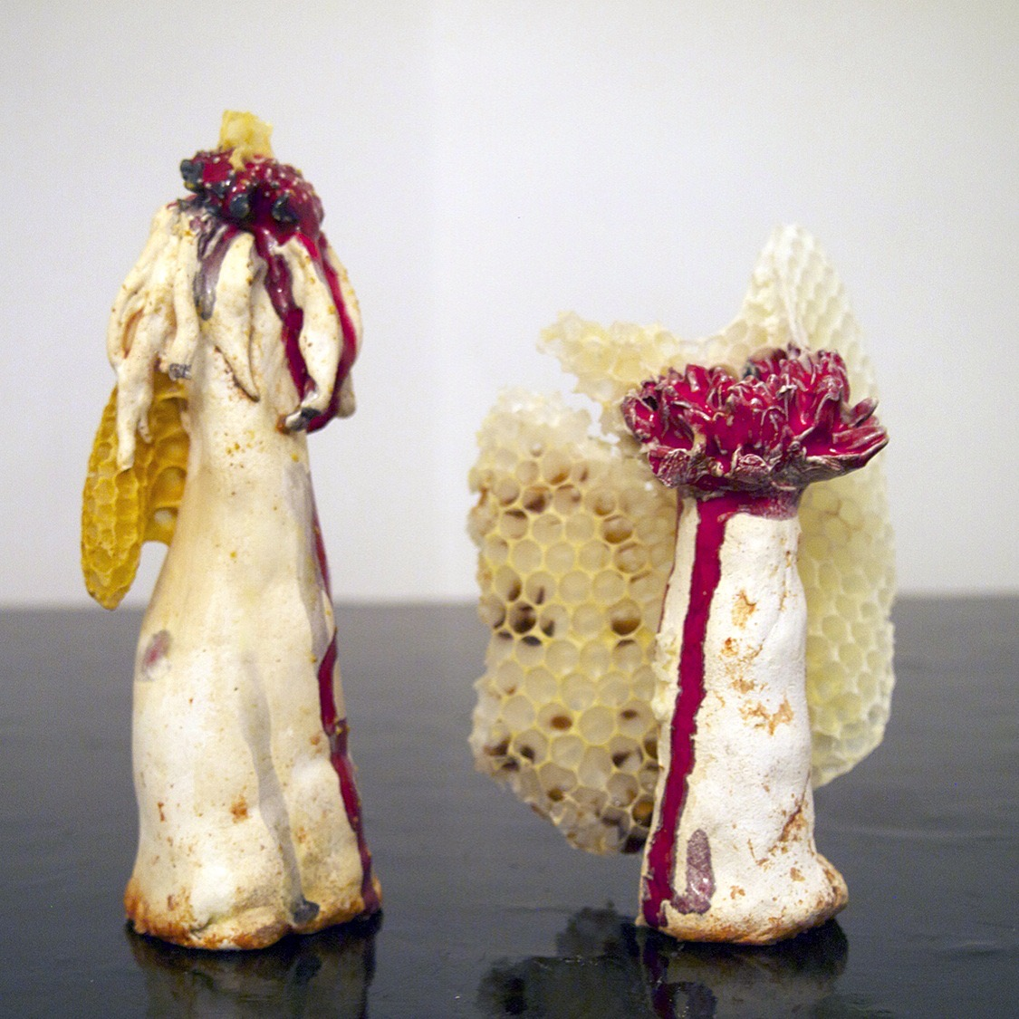 Flower Arrangement 2 , 2015, Ceramic and beeswax, dimensions variable