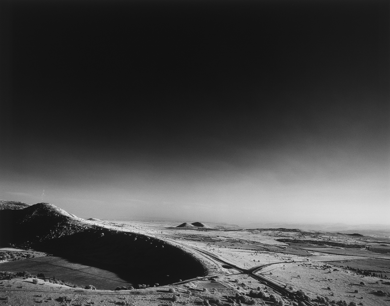 Israel_03_05 , 2003-15, Black and white infared (from medium format film) archival pigment print, 27 x 31 inches