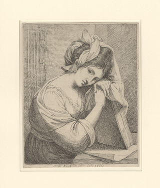 Self-portrait of artist Angelica Kauffman