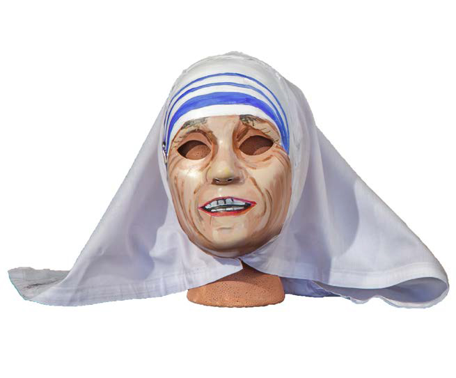 Power Mask, Mother Teressa , 2015, Mixed media