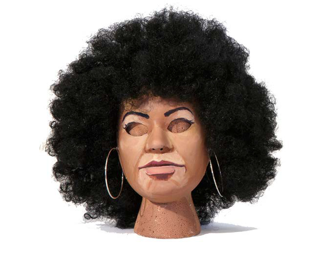 Power Mask, Angela Davis , 2015, Mixed media