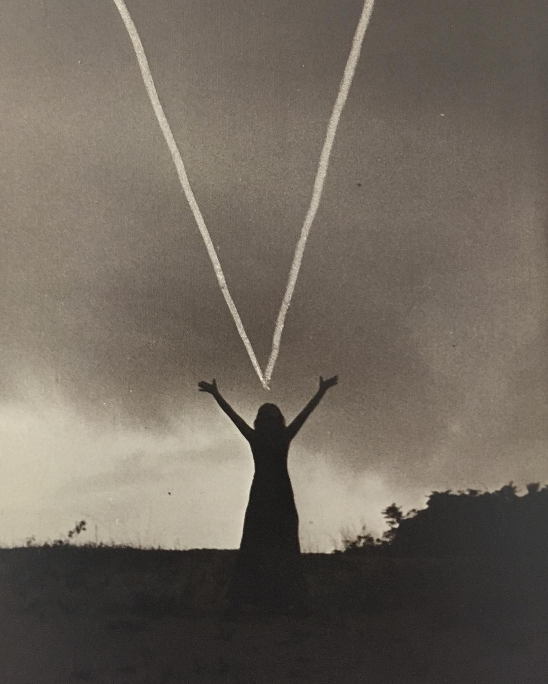 Mary Beth Edelson,  Woman Rising , 1974, Outer Banks, North Carolina