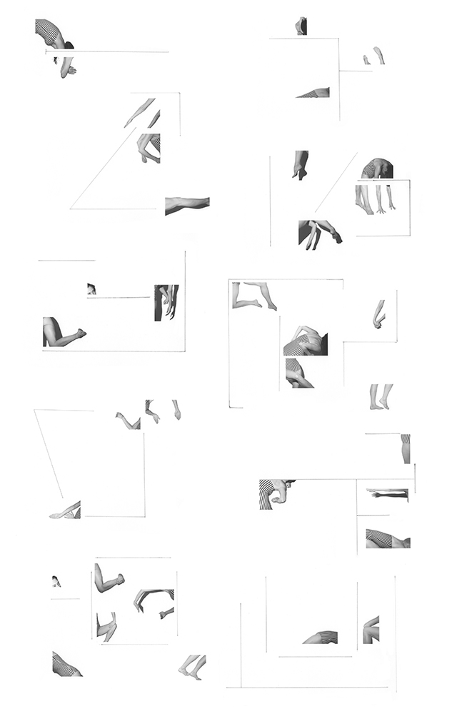 Conforming Line (score for one dancer) , 2012, Inkjet print and pencil on paper, 65 x 35 inches