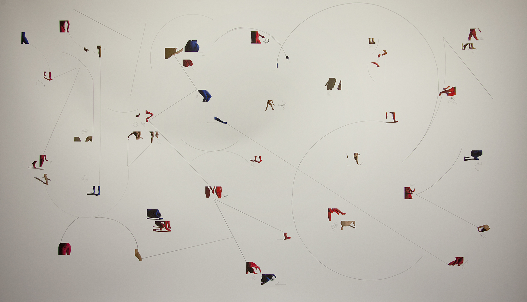 Infinite Game (score for multiple dancers) , 2013, Inkjet print and pencil on paper, 44 x 72 inches