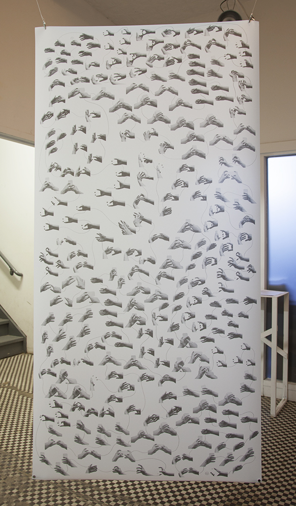 Choreography for Smartphone Gestures (score for solo performer) , 2016, Inkjet print with pencil on single matter Mylar 3mil, 60 x 30 inches