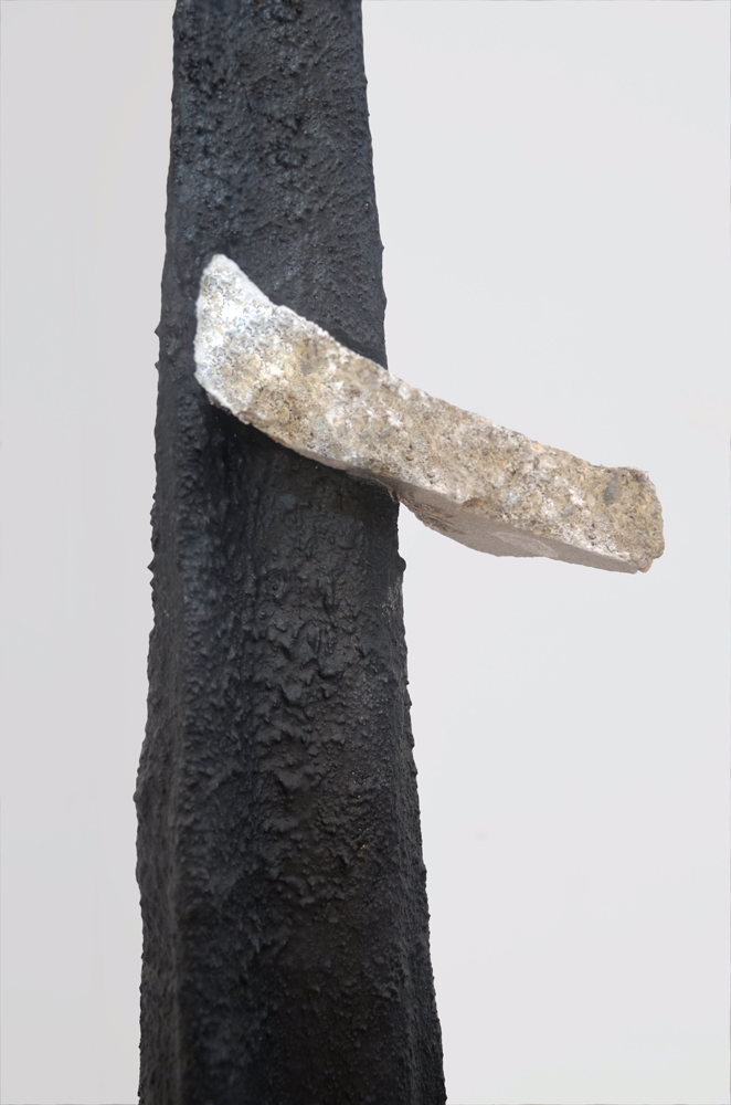 Spire  (detail), 2015, Acrylic, concrete,concrete polymers, plaster, 73 x 15 inches