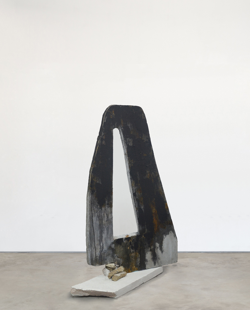Map for the Temporary Inhabitant: adderstane, 2015, concrete, concrete polymers, resin, 50 x 12 x 36 inches