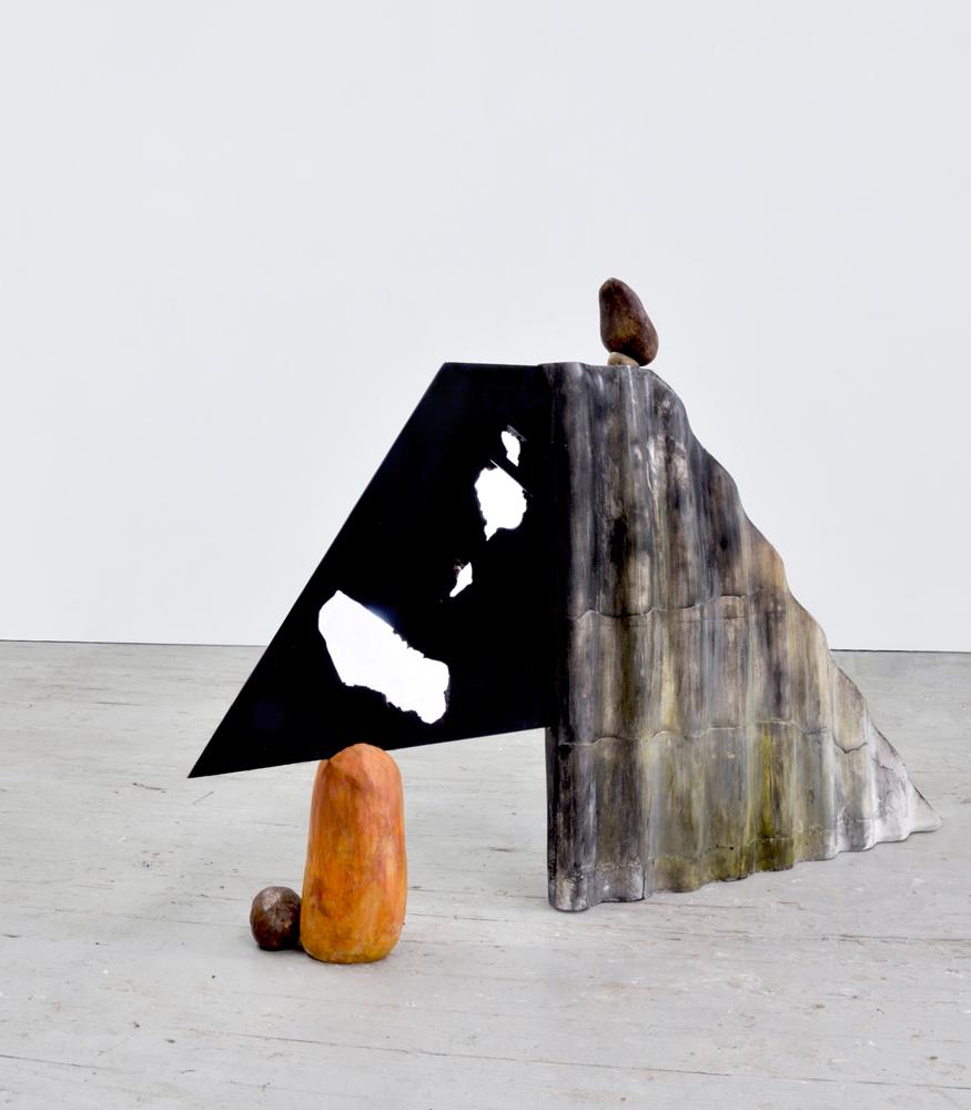 Plateau (orange rock), 2013/2015, C-print on aluminum, gypsum, resin, 29 x 8 x 45 inches