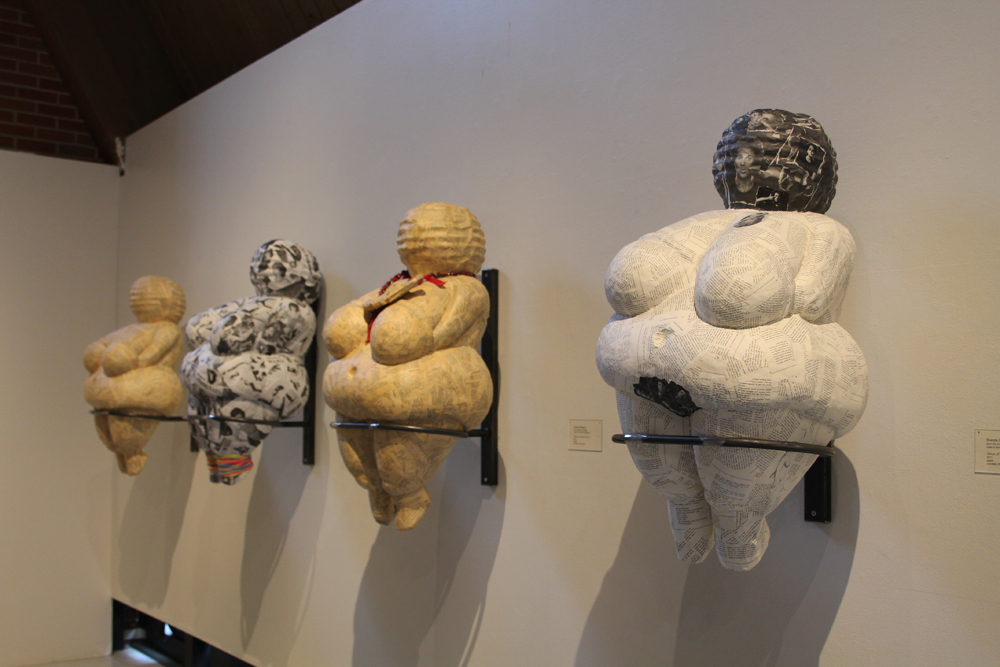Diet Guru Venus Sculptures (L to R - Last Chance Venus, Venus of Fonda, The Scarsdale Venus, and  The Venus of Simmons ), 2010-present, Sculptures, 54 x 16 x 16 inches