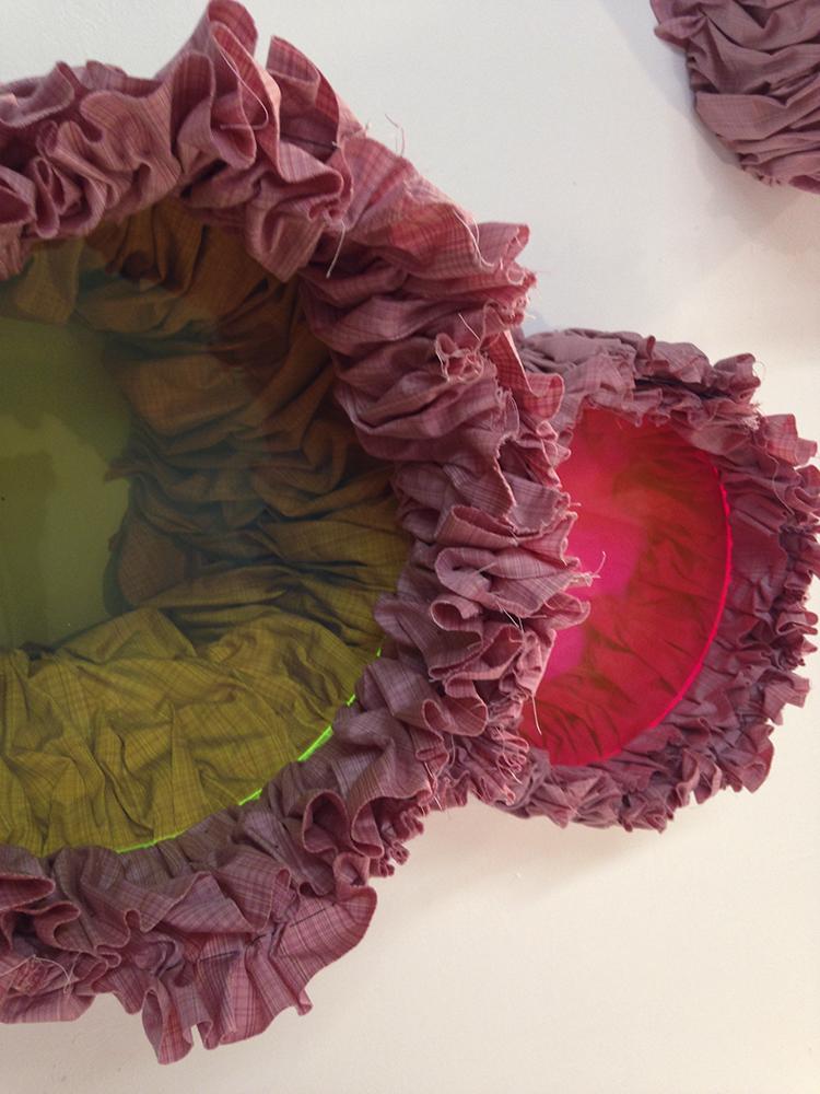 Untitled (2013- Pink 1), 2013, Plexiglas, fabric, 20 x 30 x 13 inches