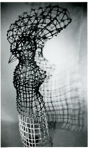 Adrienne Heinrich, Shell of Herself , 1995, 79 x 28 x 28 inches