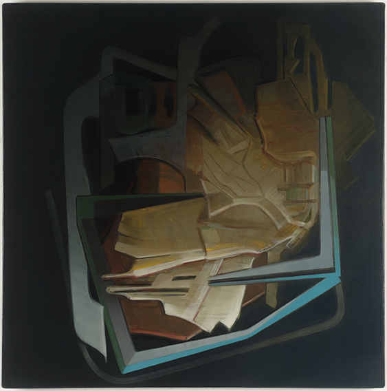 "Sue Hettmansperger,  Iterations , 2012-13, Oil on linen, 27""x27"""