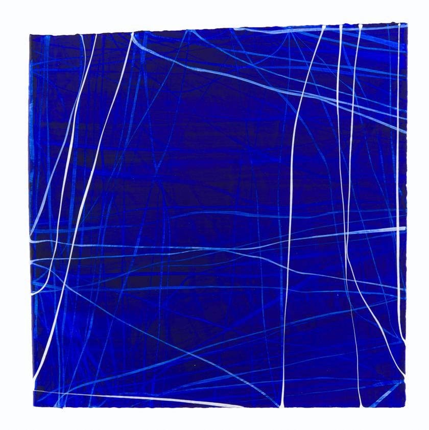 Erin Wiersma,  Examen, 6/13/2016 ,2017, Acrylic on paper, 12 x 12 inches