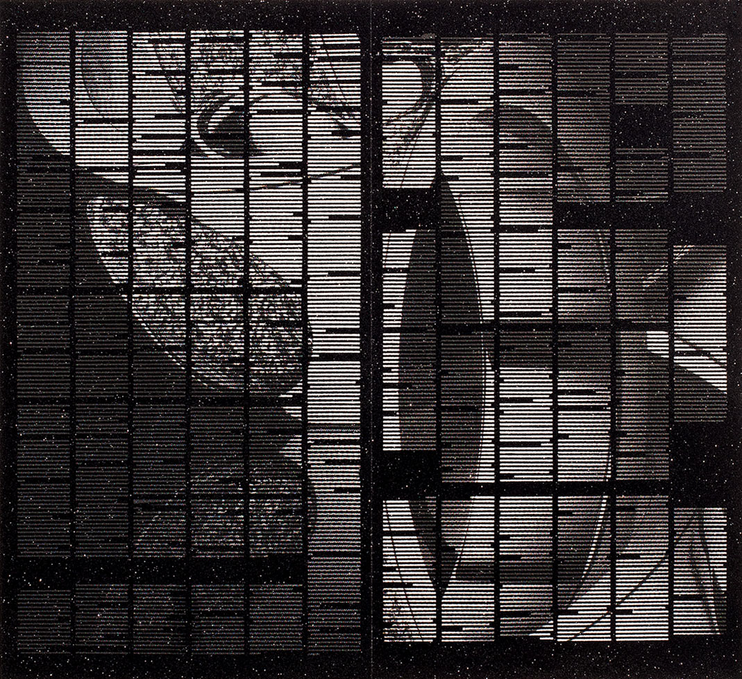Shanti Grumbine, Admission #4, Louis Vuitton , 2012, Screen-print on archival inkjet print, 22 x 24 inches