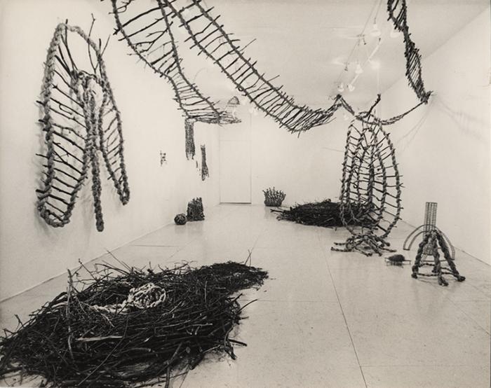 Kazuko Miyamoto,  Nesting , Installation view at A.I.R., 1980