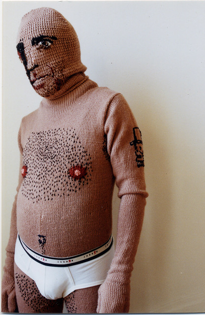 Drawers,  2002, yarn body suit
