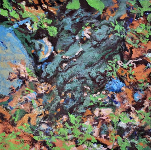 Dark Wet , 2016, oil on canvas, 24 x 24 inches