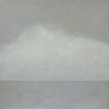 Ambient Grey,  2015, Wax encaustic and pigment on panel, 32 x 32 inches