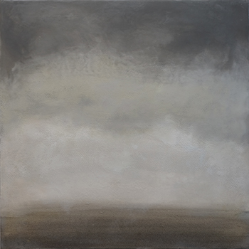 Somerset,  2016, Wax encaustic and pigment on panel, 16 x 16 inches