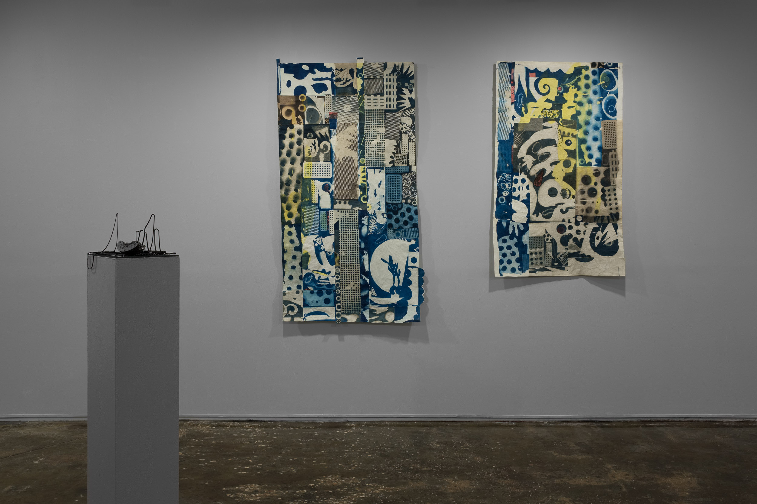 Left: Megan Biddle, Mother/Other , 2018  Right:Liz Surbeck Biddle  Inner Spaces , 2015 & Rumblings , 2015