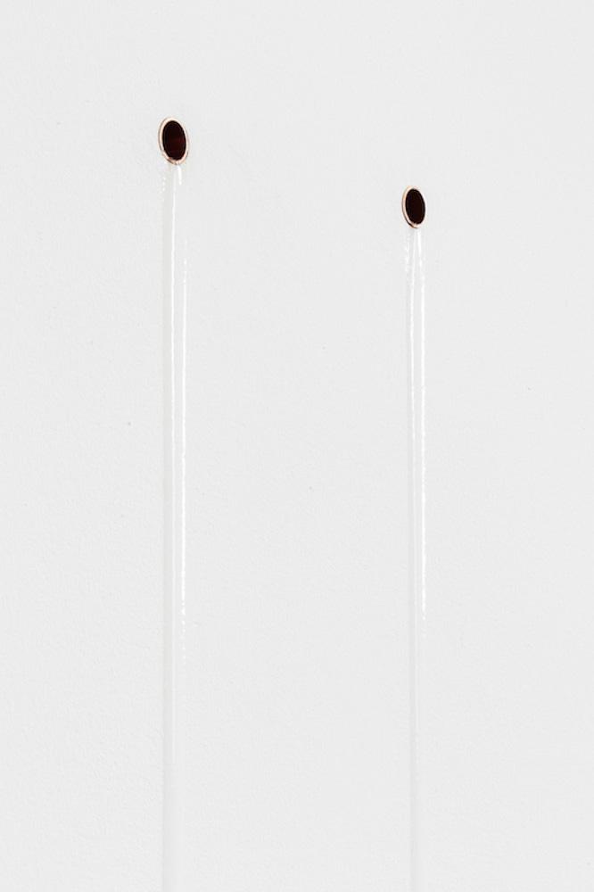 tears , 2017, copper, museum gel, dimensions variable