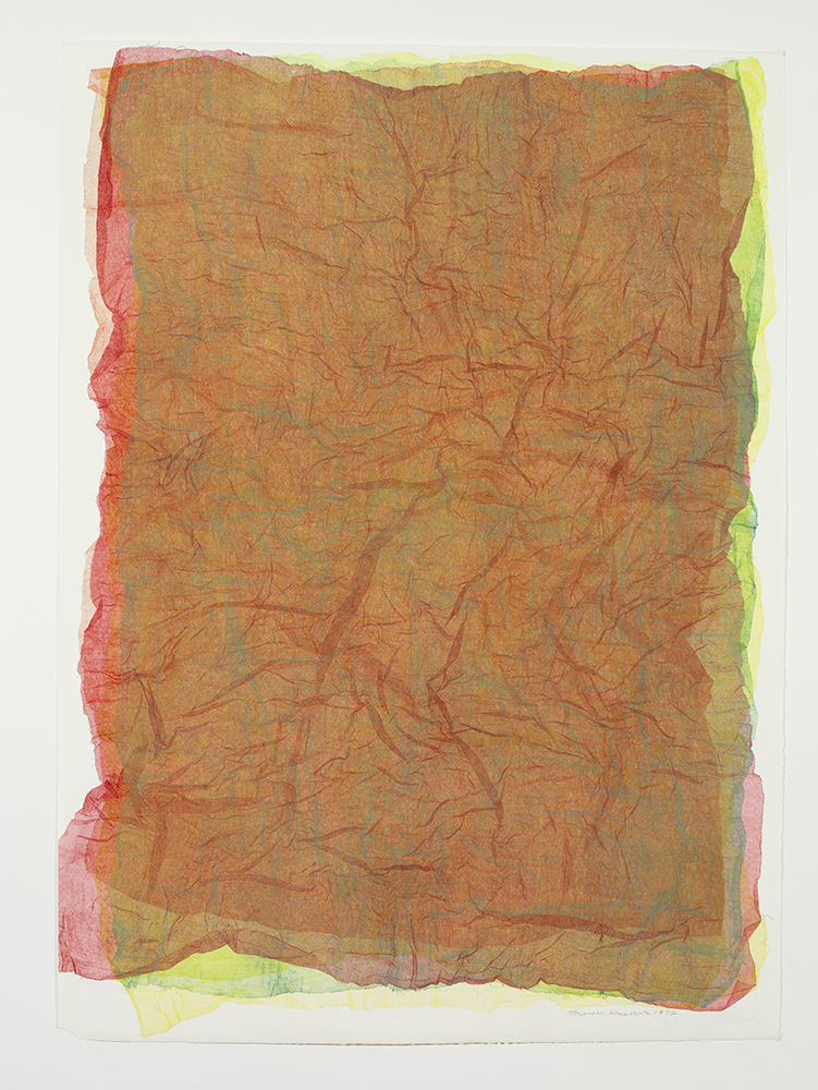 Untitled , 1974-76, Monoprint of silk marquisette, 60 x 44 inches
