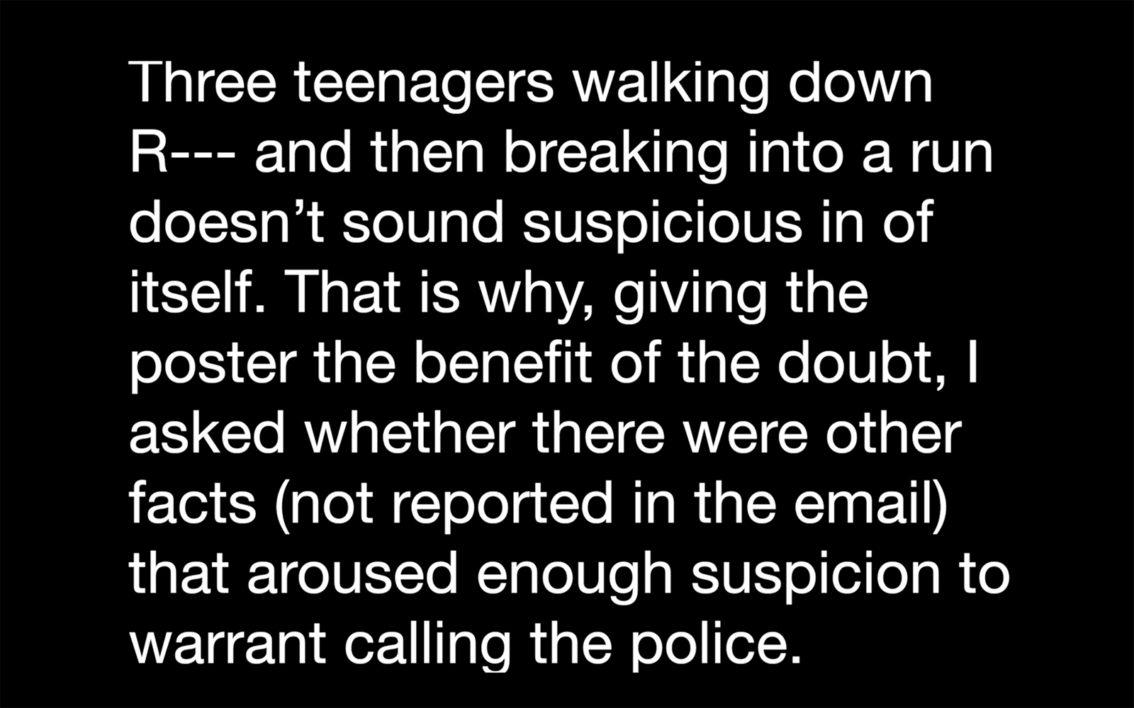 Cylburn Park (excerpt) , 2014, Still from video, runtime 08:17