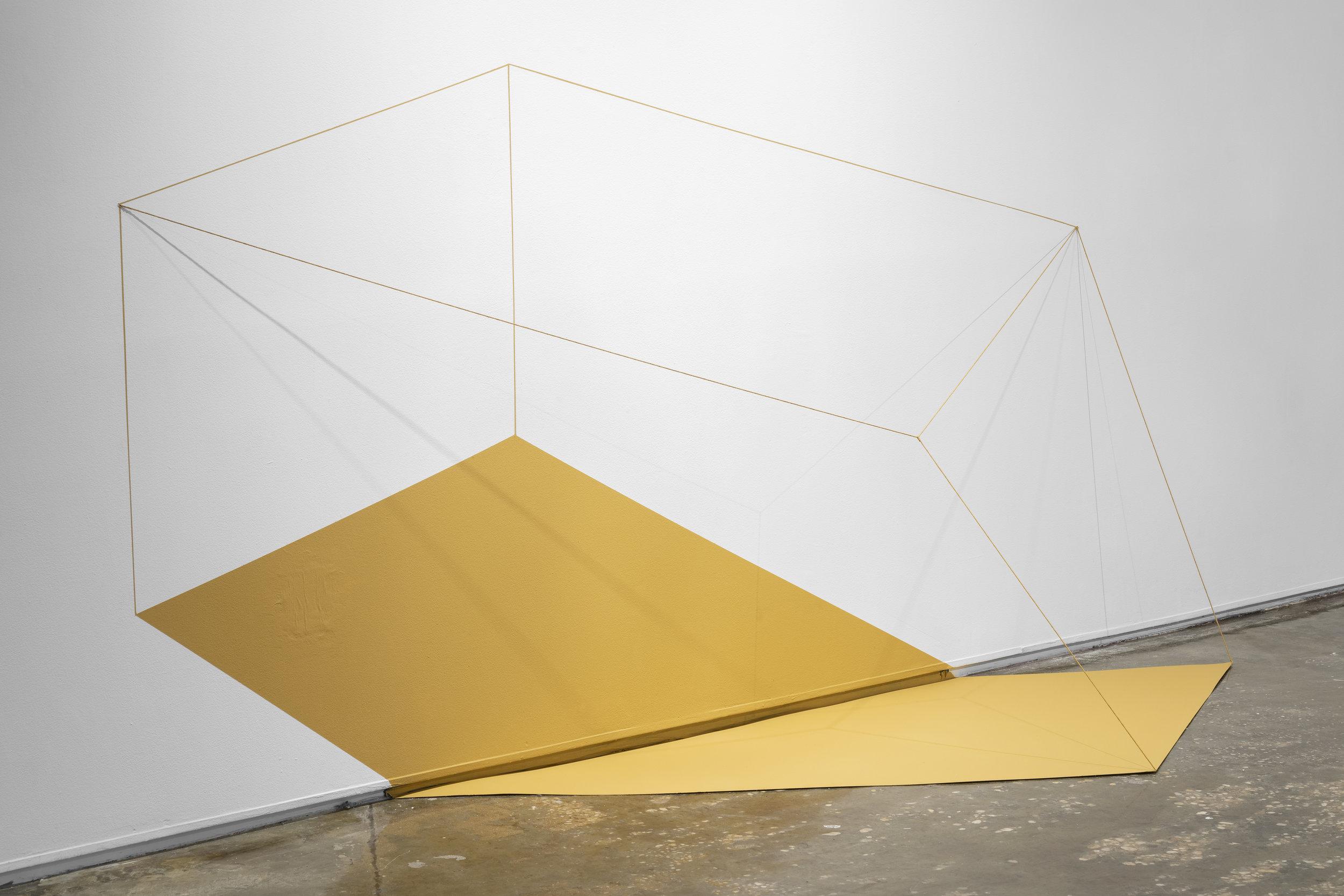 """Lydia Okumura, """"Diagram of the Cubicle Parallelogram,"""" 1980."""