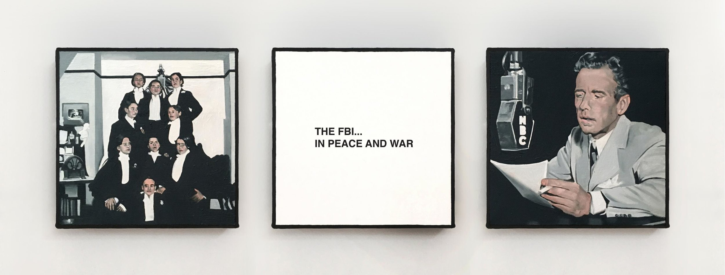The Golden Age of Radio XIX , 2018  6X6 inches each