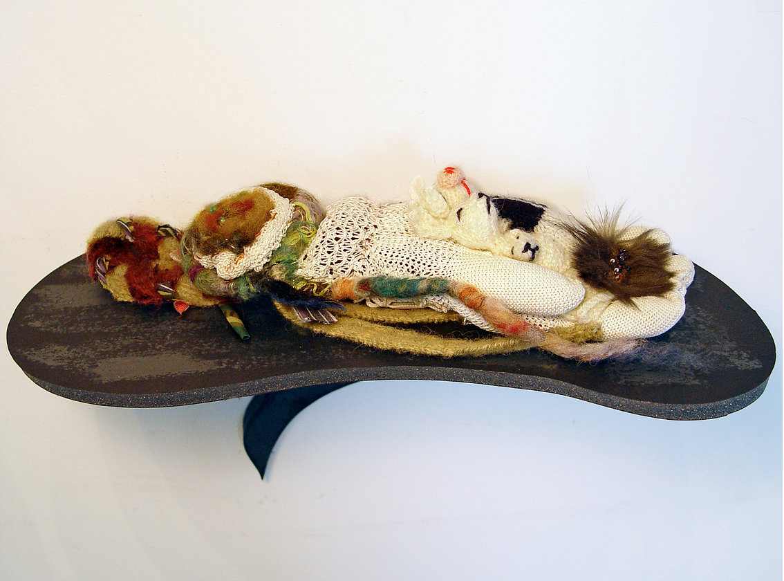 From  DEEP Play, Imaginary realms and comfort objects for grown ups,  2012  Digital prints and textile sculpture
