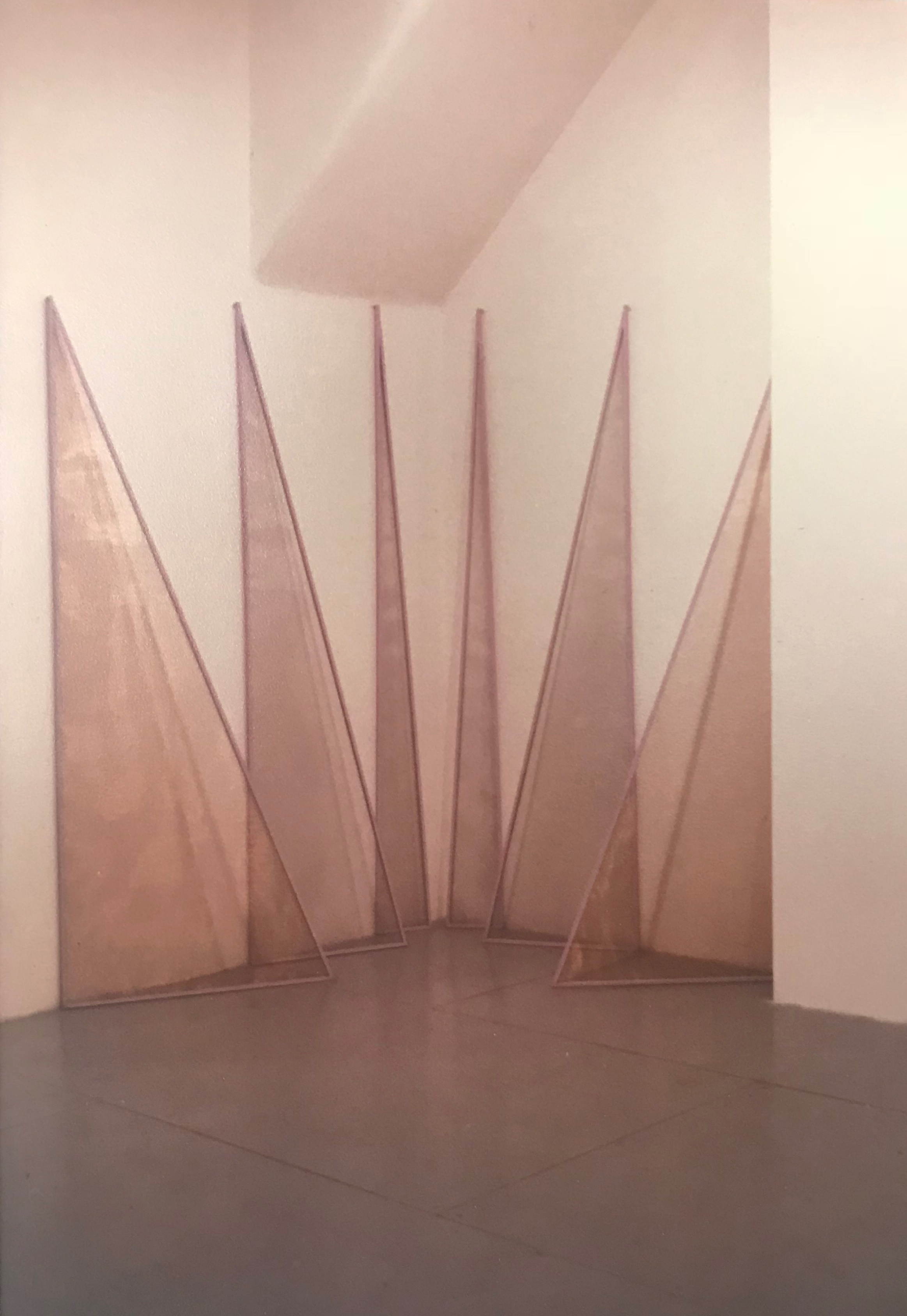 """The Place Where Geography Ends and Fairyland Begins , 1978  Bronze screen, wood and tempera  8""""x6""""x6"""""""
