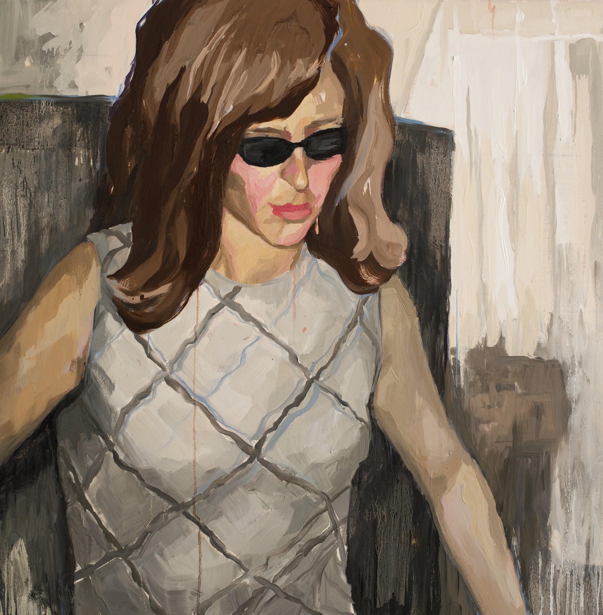 Identity Theft,  2018  40 x 40 in. Oil on canvas