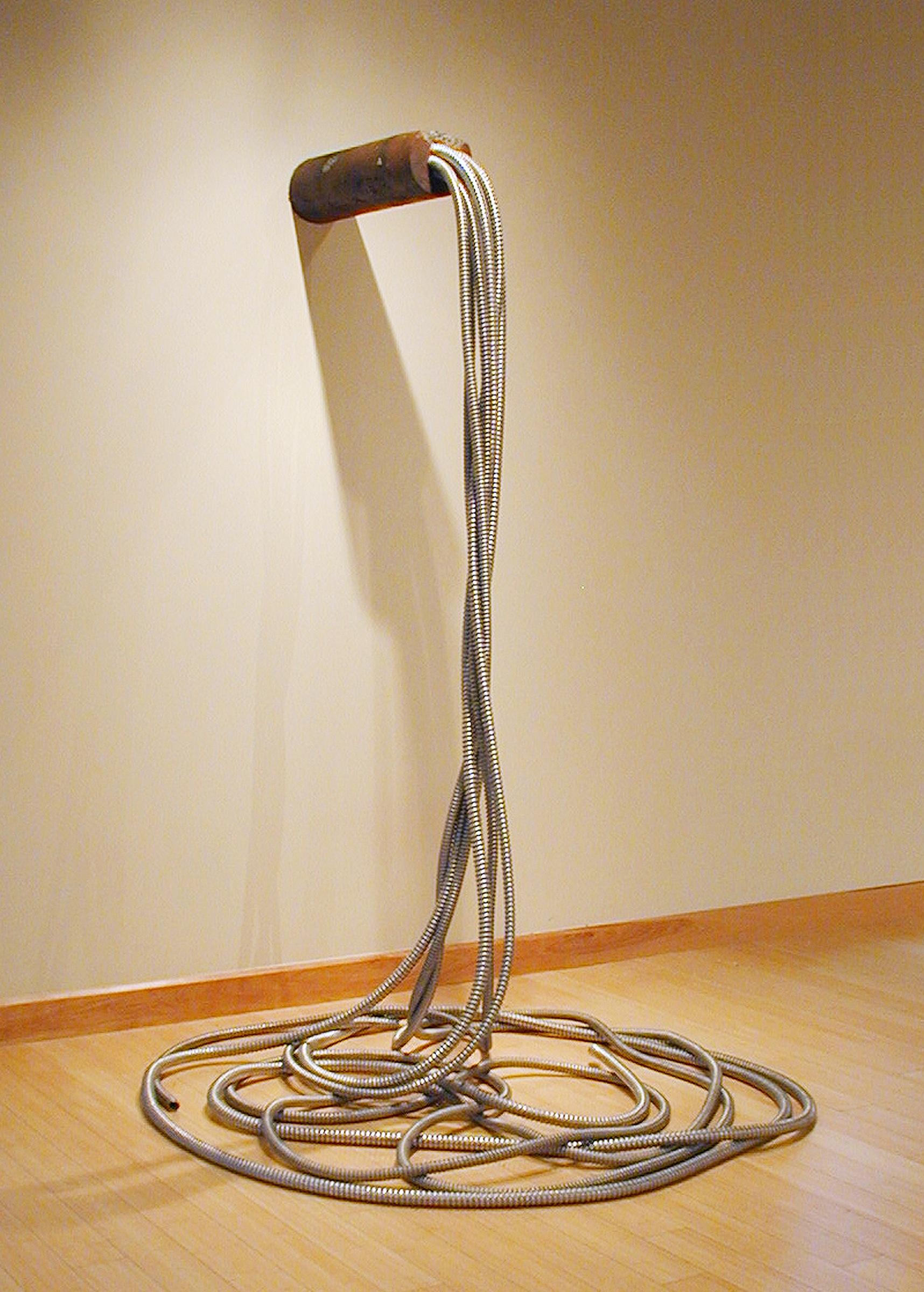 Vena Cava , 2010,   cast concrete, pigments, and reclaimed metal, 78 x 40 x 29 inches