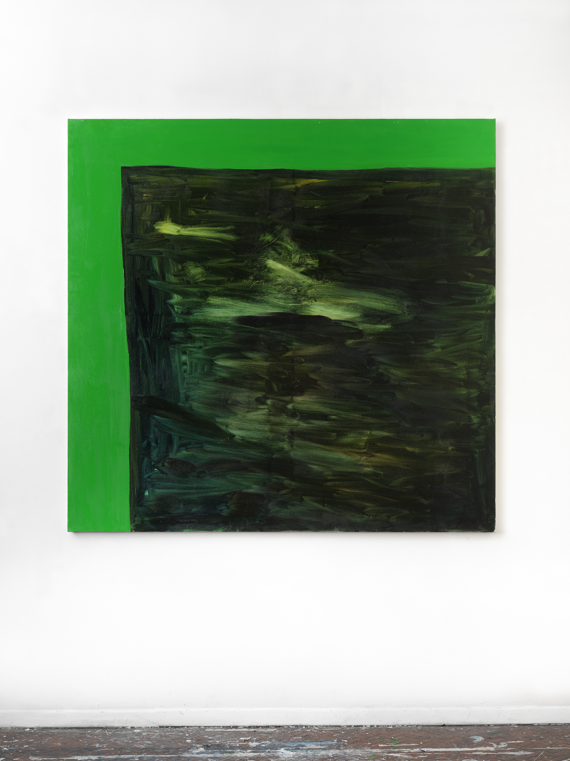 Green Screen #2 , 2018 54 x 56 inches, Oil on canvas