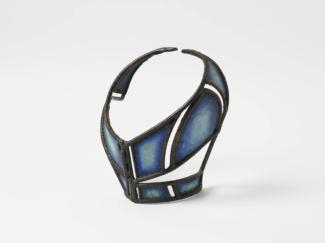 "Necklace , 1984  Steel, fabric, 12.5"" x 14"" x 8"""