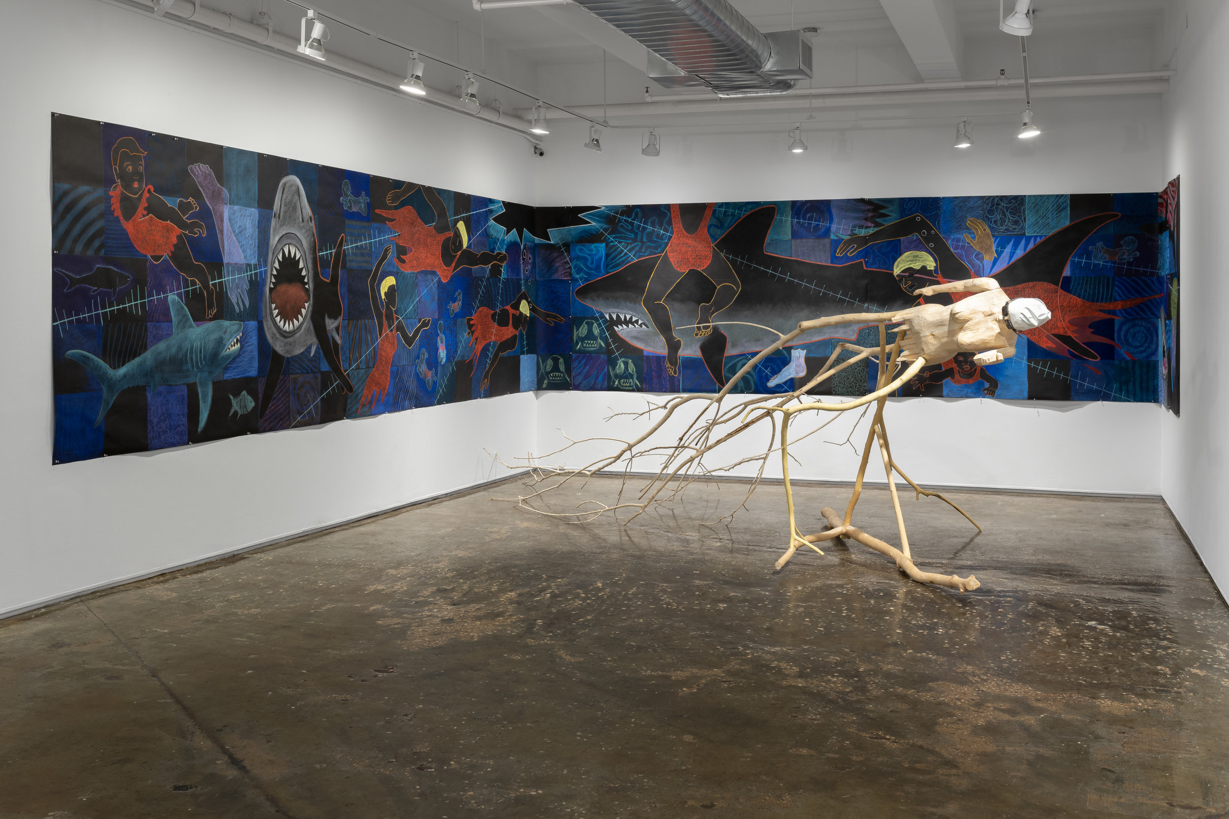 Installation view of  Swim Faster . Photo by Sebastian Bach.