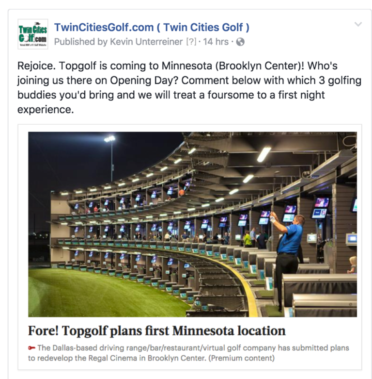 **  CLICK HERE   to read a case study of how TopGolf is bringing new players into the game