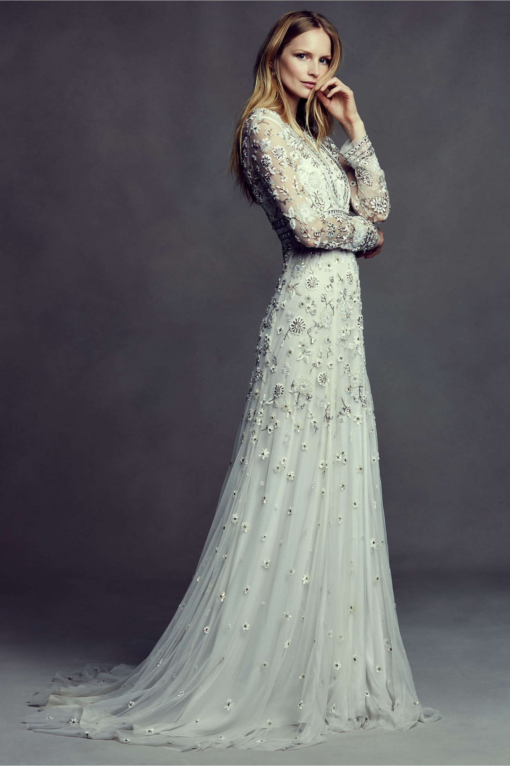 BHLDN unique gown for Pensacola bride