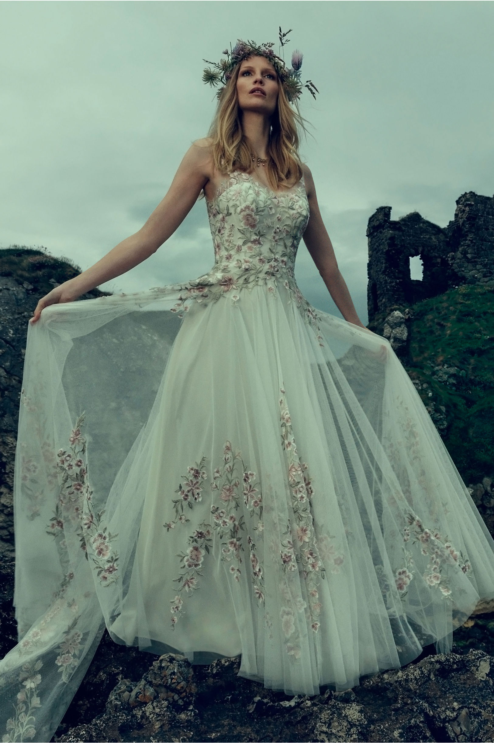unique floral gown from BHLDN in Pensacola