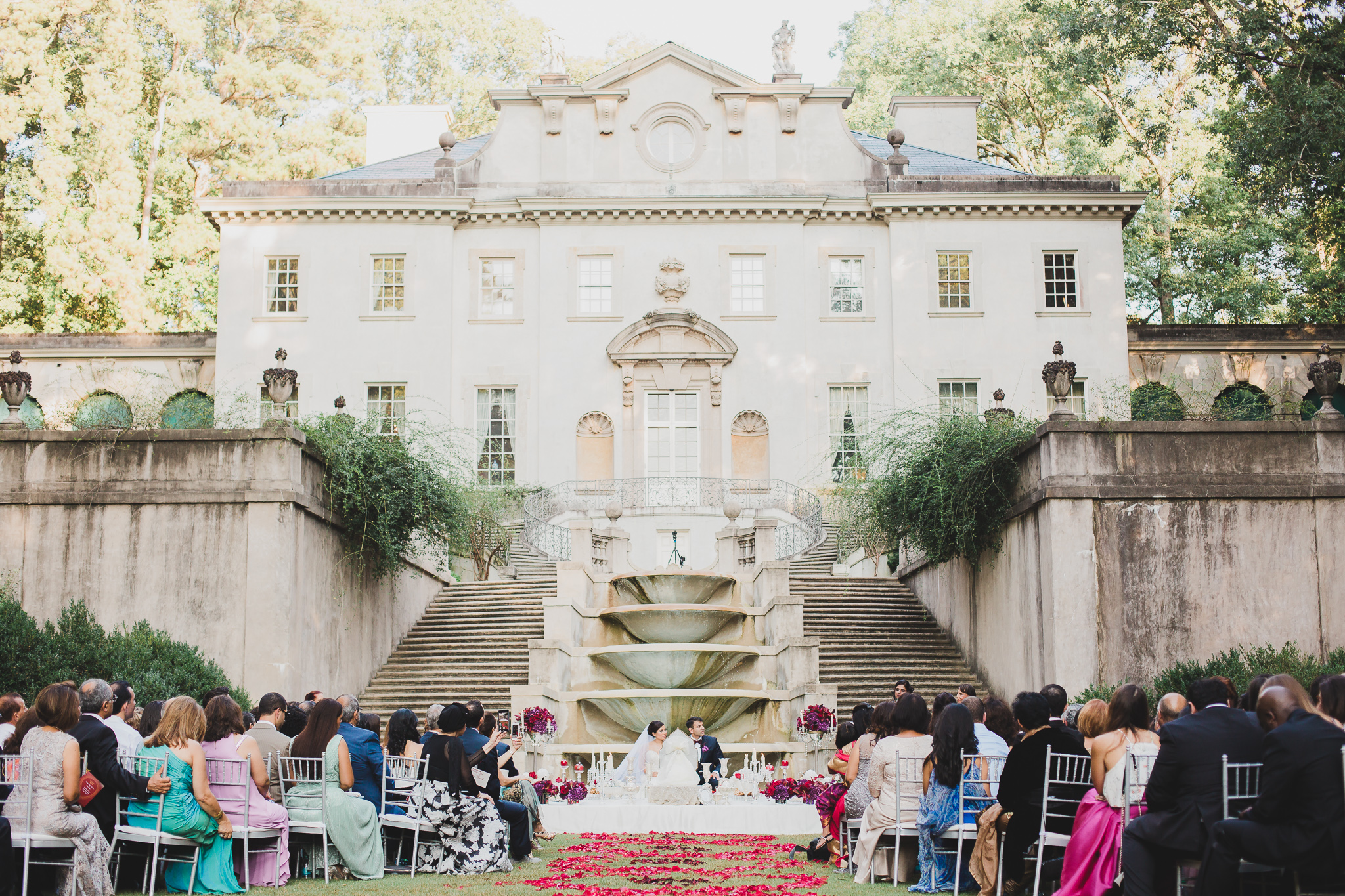 persian wedding at the swan house in atlanta, georgia
