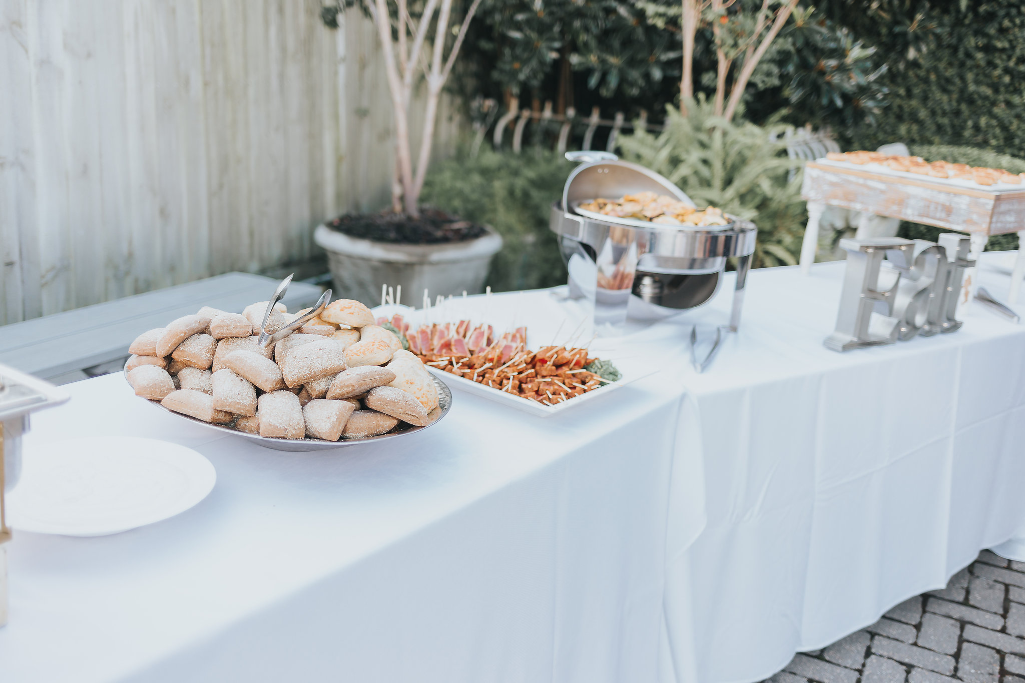 The Fish House wedding catering in 5eleven wedding venue in downtown pensacola