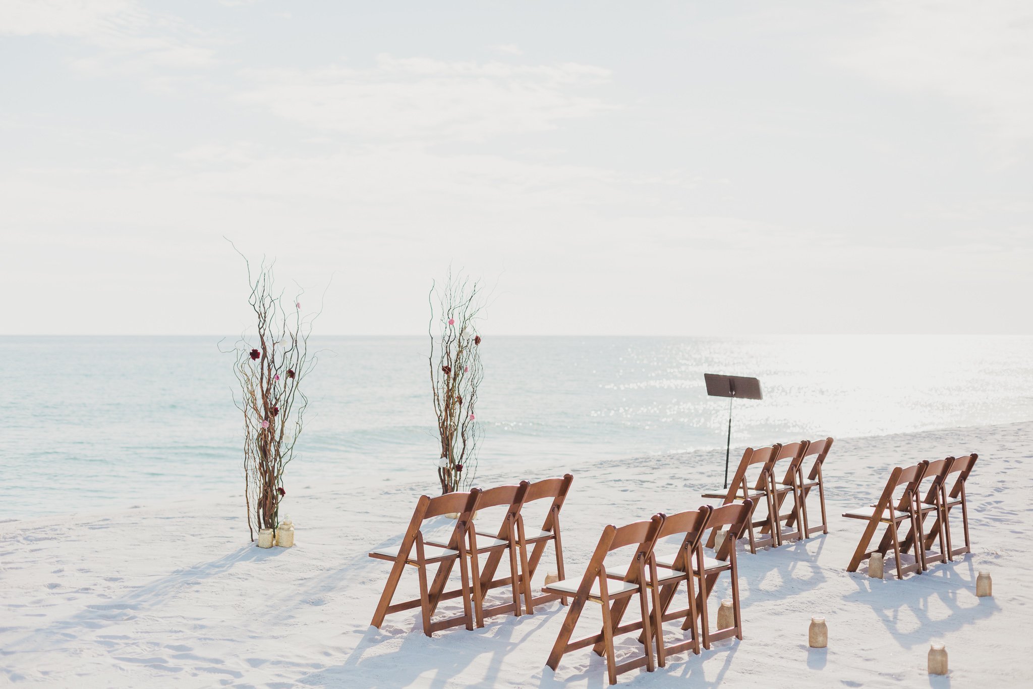 beach wedding on pensacola beach