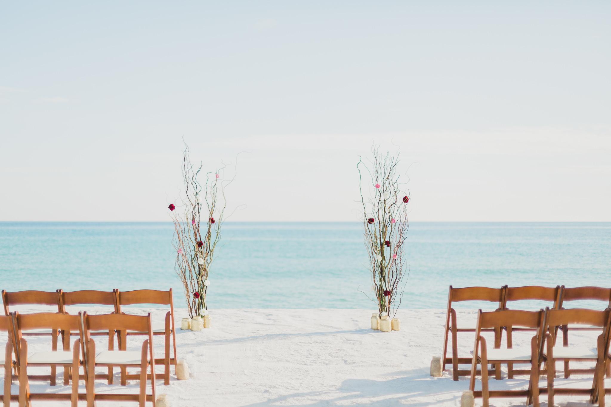 pensacola beach serene occasions arbor for beach wedding